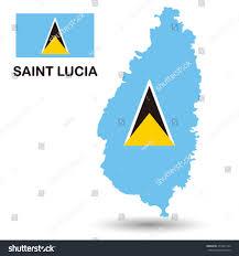 Saint Lucia Map Saint Lucia Flag Map Stock Vector 473922124 Shutterstock