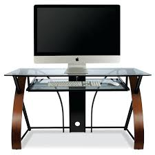 Walmart Desk Computer Half Desks Computer Desk W Curved Wood Sides In Espresso