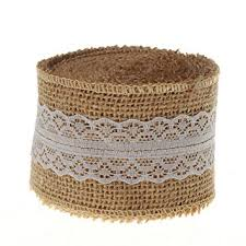 lace ribbon sl crafts 10 yards hessian burlap with lace