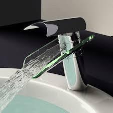 glass waterfall bathroom sink faucet 0204b modern bathroom