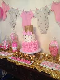 pink and gold baby shower baby shower decorating ideas for girl tiered white pink gold