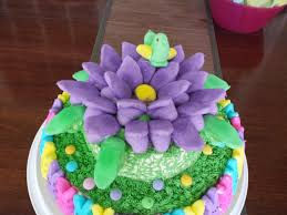 Decorating Easter Cake With Peeps by Peeps Cake For Easter Cakecentral Com