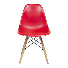 charles eames dsw side chair mid century modern redplastic eames