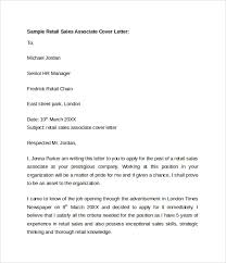 cover letters for retail sales associate 28 images retail