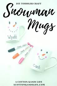 diy snowman mugs easy holiday craft kids cocoa cup project