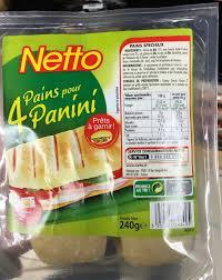 cuisine de reference gratuit 4 pains pour panini netto 240 g