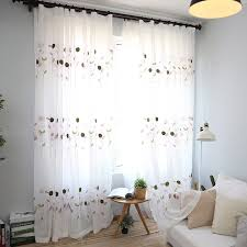 Patterned Sheer Curtains White Leaf Patterned Graceful Sheer Curtains For Windows