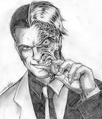 sketch please batman villain two face