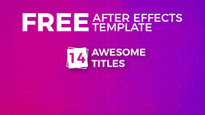 free after effects templates titles plus youtube