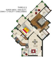 900 Sq Ft Apartment Floor Plan Amaatra Homes In Noida Ext Sector 10 Noida Project Overview