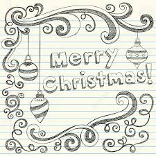 merry christmas lettering u0026 ornaments sketchy notebook doodles