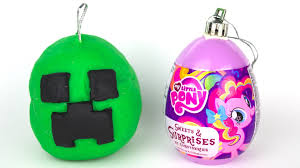 opening play doh christmas ornament surprises youtube