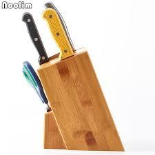 bloc couteaux cuisine noolim bois porte couteau de cuisine multifonctionnel rack de