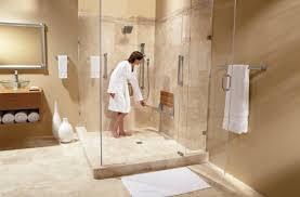 Walk In Shower With Bench Seat Amazon Com Moen Teak Wood Folding Shower Seat Aluminum Dn7110