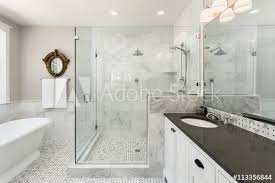 Adobe Bathrooms Beautiful Master Bathroom With Shower Bathtub And Sink In New