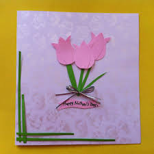 diy mother u0027s day tulip card or artwork diy tutorial scissors