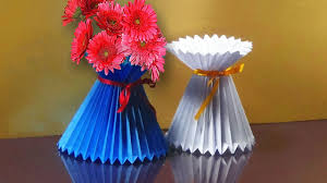 Vase To Vase Florist How To Make A Paper Flower Vase Very Easy And Simple Way Youtube