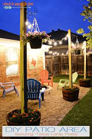 Inexpensive Backyard Ideas Diy Patio Area With L Posts Diy Patio Backyard And
