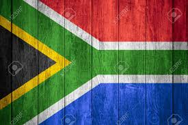Red Blue Yellow Flag Republic Of South Africa Flag Or Black Yellow Green White