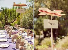 themed wedding ideas travel themed wedding ideas