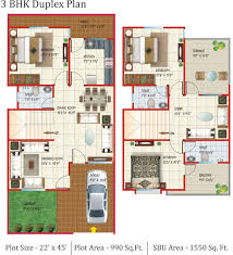 3 bhk house plans duplex house and home design