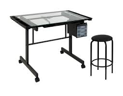 Creation Station Studio Desk by Studio Designs Vision 2 Piece Craft Station And Glass Drafting