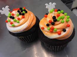 Halloween Cupcakes Ghost Gourmet Cupcakes The Gourmet Cookie Shoppe Aunt Mia U0027s Sweets