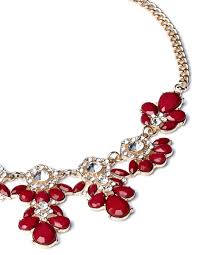 red necklace statement images Red stone statement necklace jpg