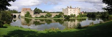 the landscape around leeds castle in england has been managed