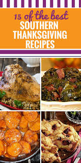 thanksgiving traditional southernving dinner menu recipes
