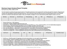 business process questionnaire template what is business impact
