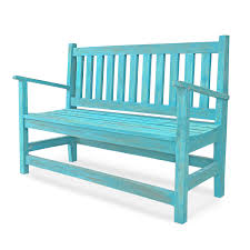 antique bench turquoise blue the yellow door store