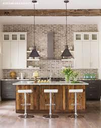Ideas For Kitchen Backsplash Best 25 Kitchen Brick Ideas On Pinterest Exposed Brick Kitchen