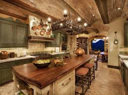 Candlelight Kitchen Cabinets Rustic Kitchen Cabinets Ideas For Large Rustic Kitchen With Candle