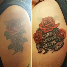 chris brown leg tattoo rose banner redo chris p jpg