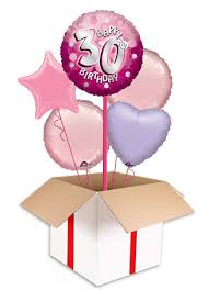 party balloons delivered pink sparkle party happy birthday 30th balloon delivered inflated