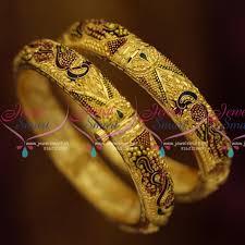 bangle bracelet color gold plated images B1196 screw open gold plated meena color delicate bangles gold JPG