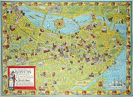 boston tourist map map massachusetts boston pictorial alva garfield