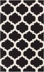 Living Room Clipart Black And White Minimalist Living Room Style With Black White Quatrefoil Stencil