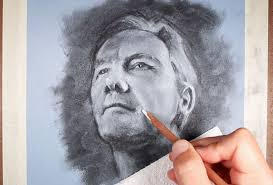 how to draw a portrait sketch charcoal