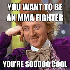 Mma Memes - you want to be an mma fighter you re sooooo cool condescending