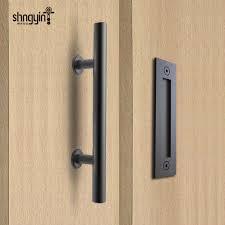 Patio Door Knobs Diyhd 12 Rustic Black Stainless Steel Barn Door Handle Pull