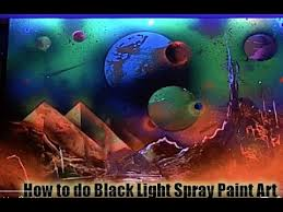 black light spray paint how to spray paint black light planets and pyramids youtube