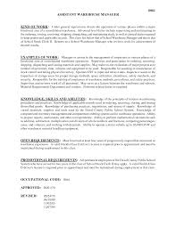 Warehouse Responsibilities Resume Endearing Resume Warehouse Job Description About Warehouse Job