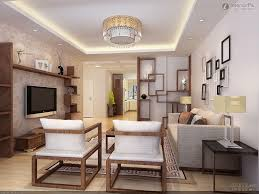 modern asian style living room wall decor ideas with fiber grey