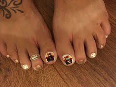 breast cancer toe nail design pretty nail designs
