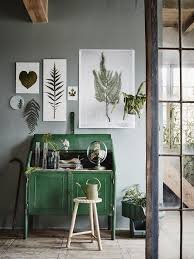 home office ideas with nature inspired wall art decor and bright