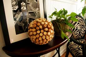 how to make a decorative cork ball all put together