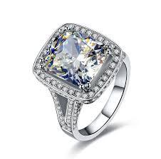 aliexpress buy 2ct brilliant simulate diamond men new luxury 8 carat cushion cut solitaire nscd simulate diamond