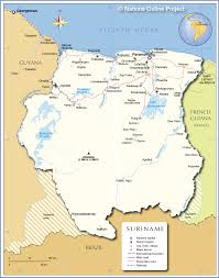 Map Of Equator In South America by Political Map Of Suriname Nations Online Project